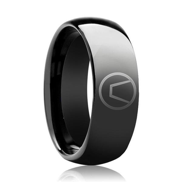 Black shiny Swinger Ring