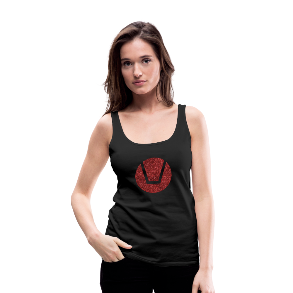 Women's Glitter Swinger Symbol Tank Top